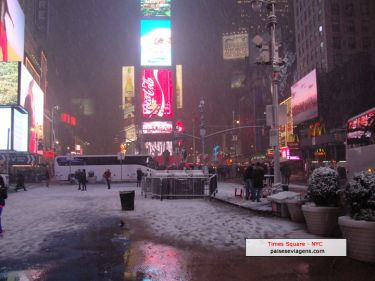 Neve na Times Square - NYC