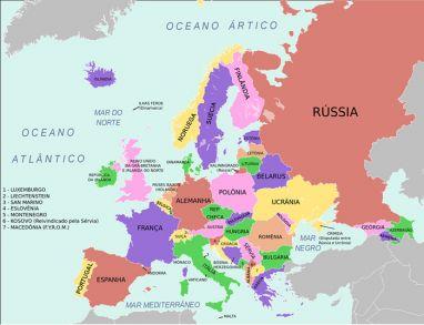 mapa da asia paises e capitais RÚSSIA   Países da Europa e Capitais   Mapa Europeu mapa da asia paises e capitais